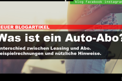 Auto-Abo oder Leasing?