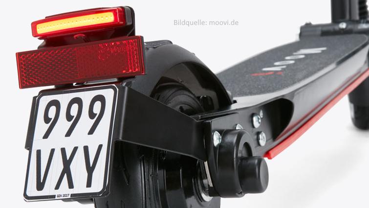 Moovi E-Scooter mit StVO-Zulassung